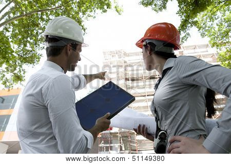 Constructions workers at work