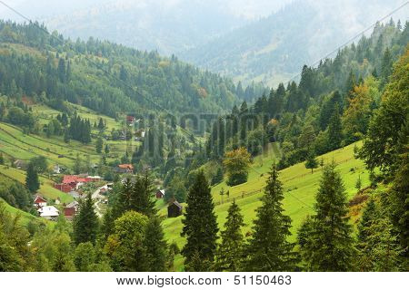 Rural landscape in Maramures, Romania