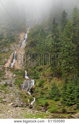 Horses Waterfall in Rodnei National Park, Maramures, Romania, Europe