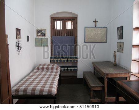 KOLKATA,INDIA - JAN 12: The former room of Mother Teresa at Mother House in Kolkata, West Bengal, India on Jan 12,2009.