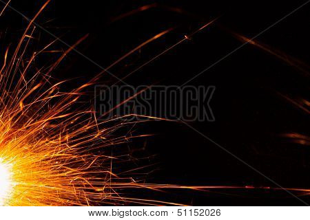 christmas sparkler backdrop with copy-space