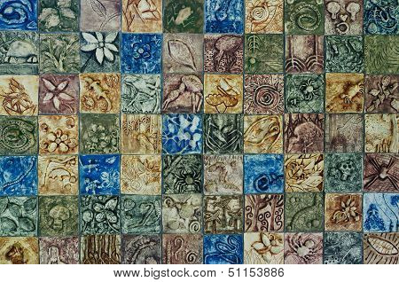stone carving wall background