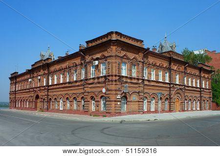 Tomsk, Old Brick Building