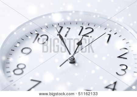 business and time concept - wall clock over white