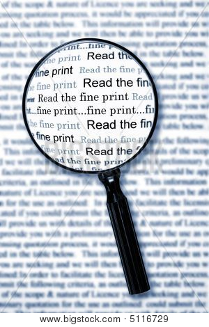 Leer la letra pequeña