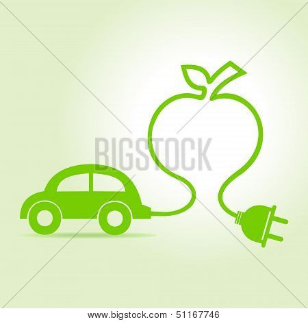 Eco car make a apple icon
