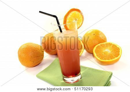 Campari Orange With A Straw