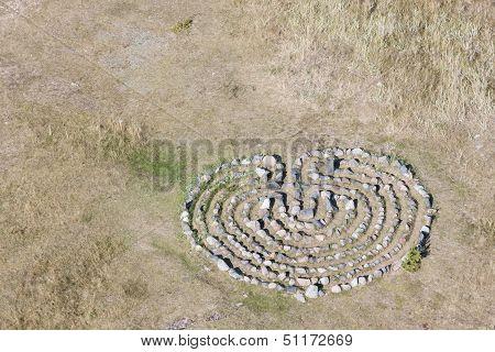 Stone Maze On Ground