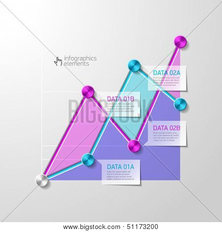 Abstract diagram infographics template. Vector.