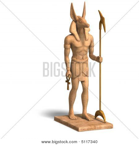 Statue Of Egyptian God Anubis