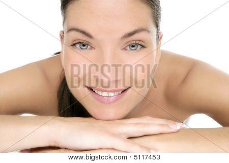 Beauty Of Clean Beautiful Woman Portrait