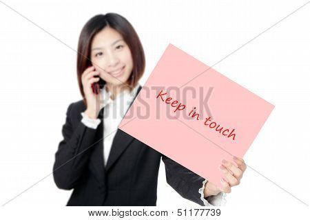 Business Woman Speaking on Phone