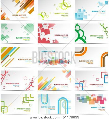 Modern Business Card Set eps 10
