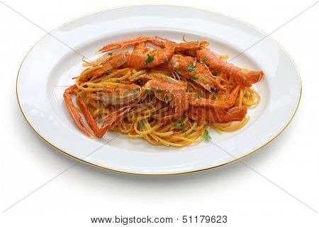 scampi pasta with tomato cream sauce
