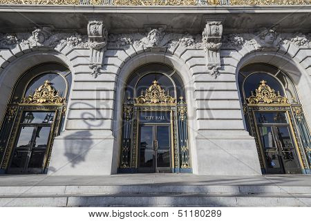 SAN FRANCISCO, CALIFORNIA - JAN 14:  Historic City Hall.  The city's Supervisors unanimously approved a first ever two year balanced budget for 2012-2014 on January 14, 2013 in San Francisco, CA.