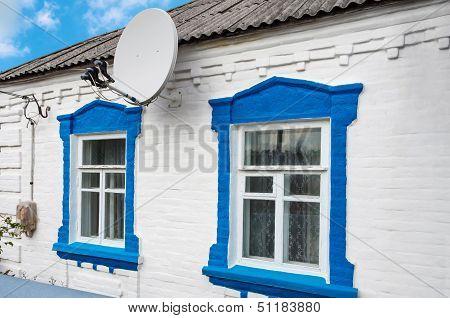 Antenna On Farmhouse