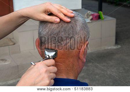 Getting A Haircut Old Mashine