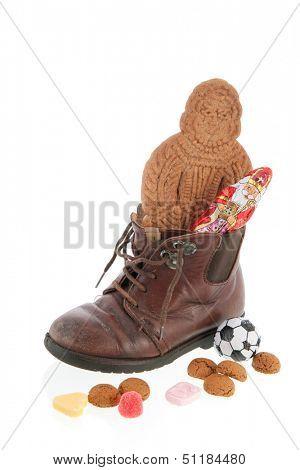 Child shoe with Dutch Sinterklaas candy