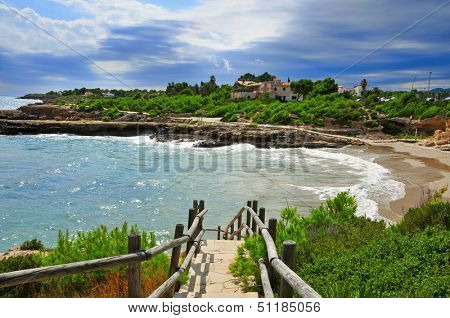 view of Cala Vidre in Ametlla de Mar, Catalonia, Spain