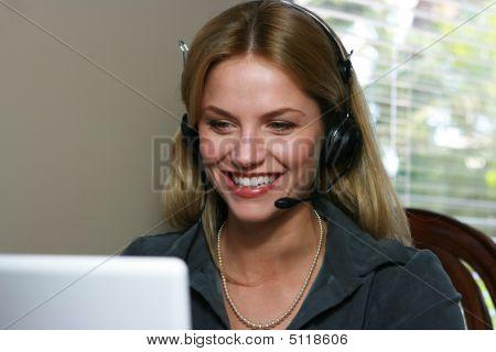 Attractive Customer Service Representative