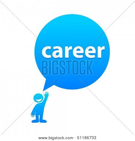 career - the label template in speech bubble