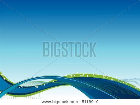 Flow Background Blue