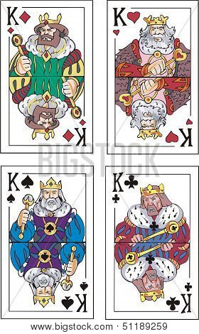 Playing Cards. Kings