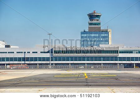 PRAGUE - SEPTEMBER 06: Vaclav Havel Airport Prague on September 06, 2013 in Prague, Czech Republic. Prague Airport is the main air gate to the Czech Republic.