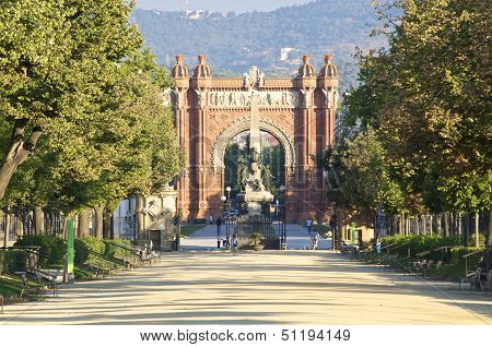 The Arc De Triomf in Barcelona