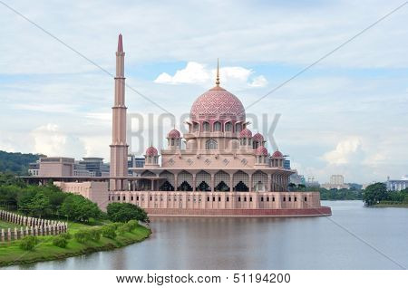 Putra Mosque in Putrajaya,  the new administrative center of Malaysia