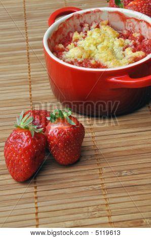 Strawberry Crumble In A Ramekin