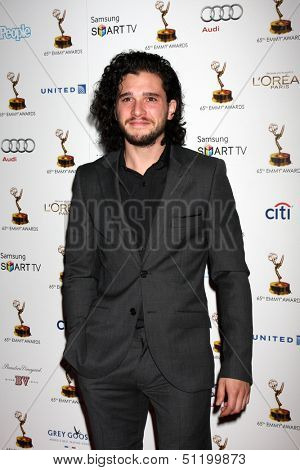 LOS ANGELES - SEP 20:  Kit Harington at the Emmys Performers Nominee Reception at  Pacific Design Center on September 20, 2013 in West Hollywood, CA