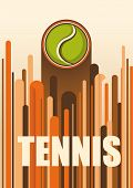 Colorful tennis poster. Vector illustration.