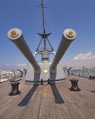 old battleship Averoff main deck view