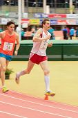 LINZ, AUSTRIA - JANUARY 31 Simon Lechleitner (#17 Austria) places 15th in the men's 3000m event on J
