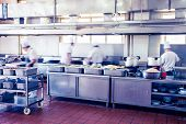 foto of chinese restaurant  - kitchen of a chinese restaurant - JPG