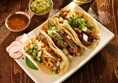 stock photo of tacos  - authentic mexican barbacoa - JPG