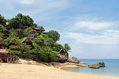 PHA NGAN ISLAND, THAILAND - JUNE 23 : Bungalows on the rock on 23 June 2012 in Koh Pha ngan, the sou