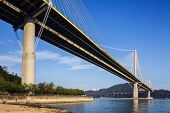 foto of hong kong bridge  - Ting Kau suspension bridge in Hong Kong - JPG