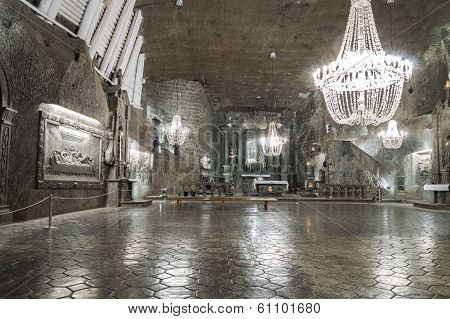 Chamber In Salt Mine In Wieliczka, Poland