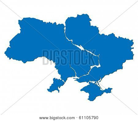vector illustration Map of Ukraine