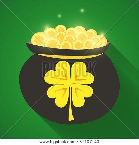 St Patrick Day Gold Money Icon