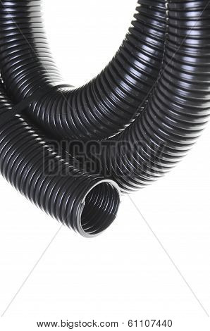 Black corrugated pipe