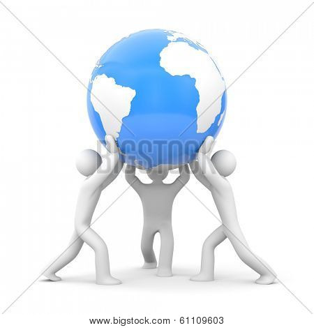 Earth in our hands. Save the earth