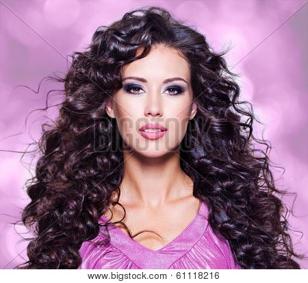 Face Of  A Beautiful Young Woman With Long Hairs