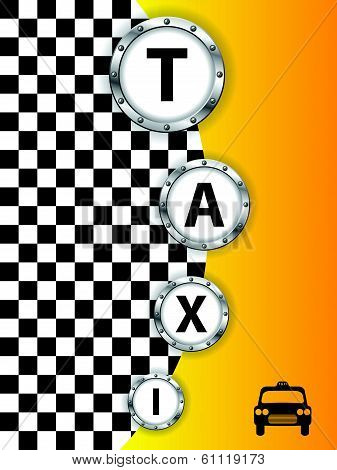 Taxi Background Design With Metallic Rings