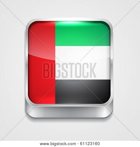 vector 3d style flag icon of united arab emirates