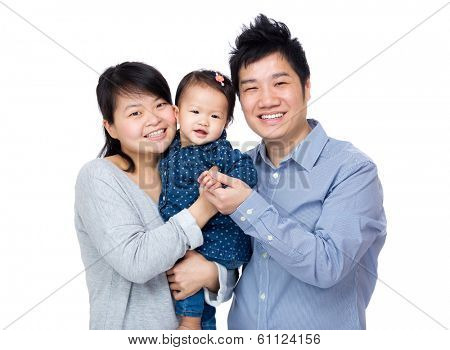 Asia happy family