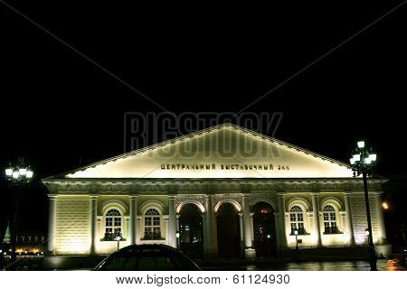 Moscow Manege At Night