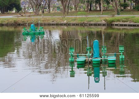 Automatic Aerator floated on water surface